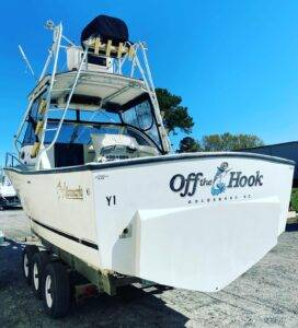 27' Albemarle getting conversion to outboards