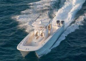 tideline 36 at the miami boat show.
